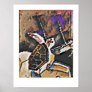 Tartaruga de mar da boba e o poster do Shipwreck