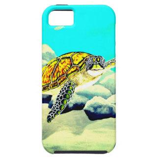Tartaruga de mar que pinta o mar azul bonito capa tough para iPhone 5