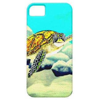 Tartaruga de mar que pinta o mar azul bonito capas para iPhone 5