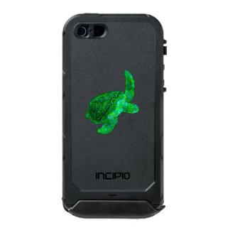 Tartaruga de mar verde tribal capa à prova d'água para iPhone SE/5/5s