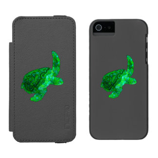 Tartaruga de mar verde tribal capa carteira incipio watson™ para iPhone 5