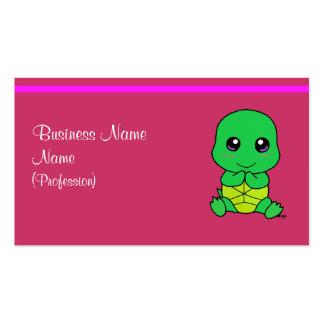 Tartaruga do bebê cartão de visita