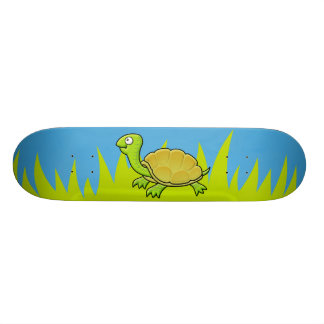 Tartaruga dos desenhos animados shape de skate 18,4cm