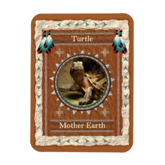 Tartaruga - ímã de Flexi do vinil da terra de mãe