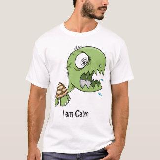 """Tartaruga insana louca """"eu sou"""" camisa calma"""