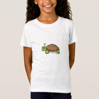 Tartaruga pintada bonito - t-shirt dos miúdos camiseta