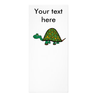 Tartaruga verde pequena bonito 10.16 x 22.86cm panfleto