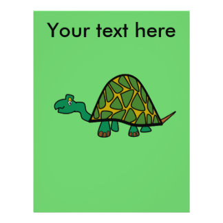 Tartaruga verde pequena panfletos personalizado