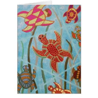 Tartarugas abundante cartao