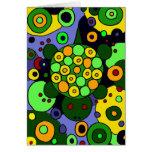 Tartarugas coloridas e arte abstracta dos círculos cartão