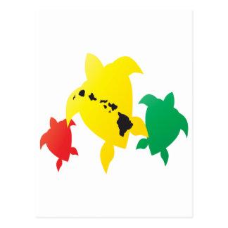 Tartarugas da reggae de Havaí Cartoes Postais