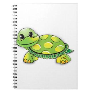 Tartarugas em um caderno