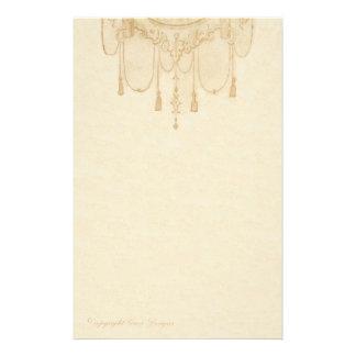 Tassles em artigos de papelaria do ouro