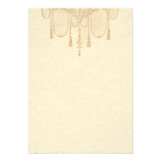 Tassles em artigos de papelaria do ouro convite