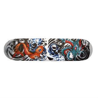 tatuagem 1 do dragão, tatuagem 2 do koi shape de skate 18,1cm