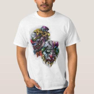 tatuagem assustador do palhaço camisetas