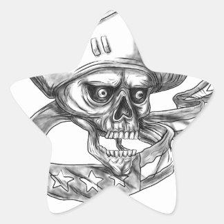 Tatuagem da fita da bandeira dos EUA do patriota Adesivo Estrela