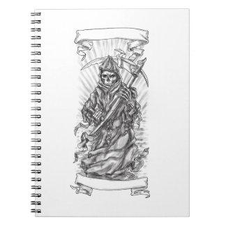 Tatuagem da fita do Scythe do Ceifador Caderno
