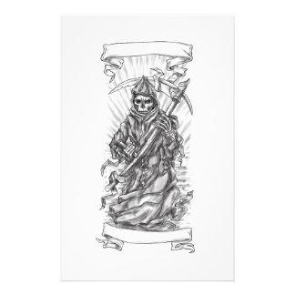 Tatuagem da fita do Scythe do Ceifador Papelaria