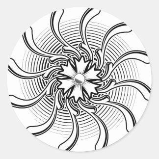 Tatuagem da flor adesivos redondos