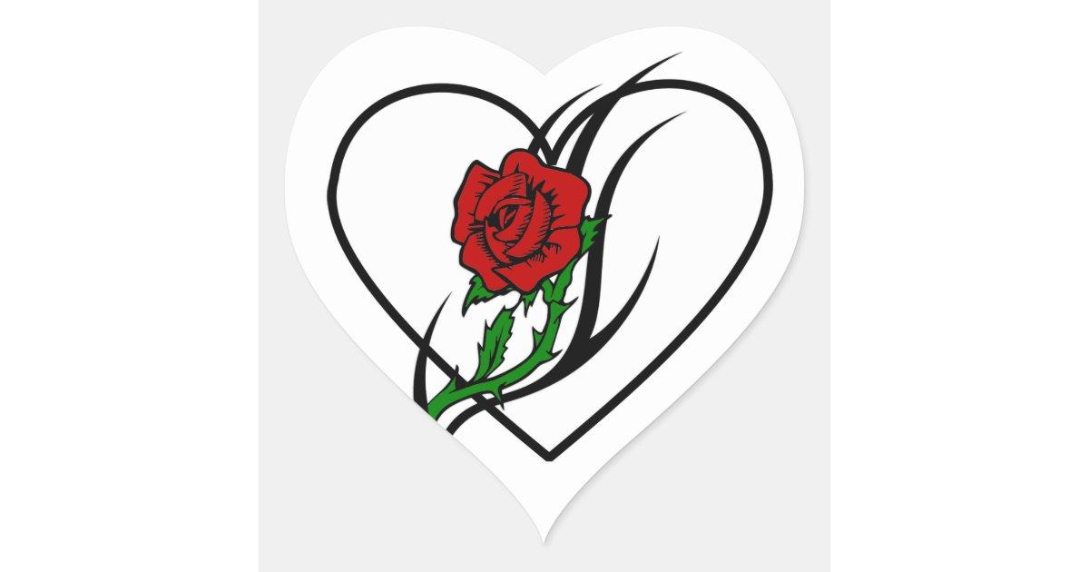 Armario Farmacia Antiguo ~ Tatuagem da rosa vermelha adesivo coraç u00e3o Zazzle