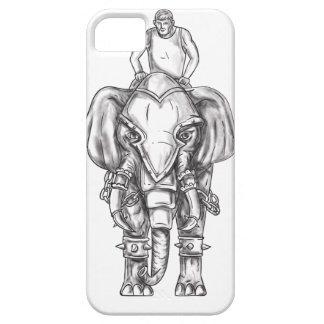 Tatuagem do cavaleiro do Mahout do elefante da Capa Para iPhone 5