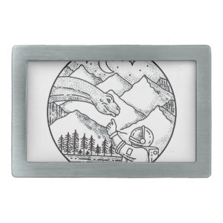 Tatuagem do círculo da montanha do astronauta do