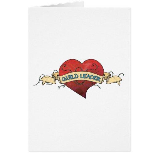 Tatuagem do LÍDER da GUILDA - coração Cartões
