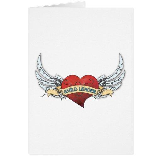 Tatuagem do LÍDER da GUILDA - coração e asas Cartão