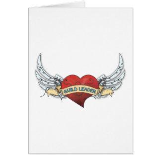 Tatuagem do LÍDER da GUILDA - coração e asas Cartão Comemorativo