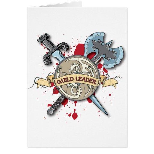 Tatuagem do LÍDER da GUILDA - espada, machado, e p Cartoes