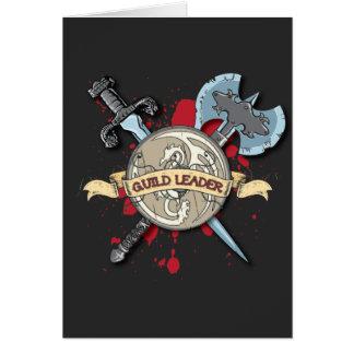 Tatuagem do LÍDER da GUILDA - espada, machado, e p Cartão Comemorativo