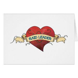Tatuagem do LÍDER do RAID - coração Cartão Comemorativo