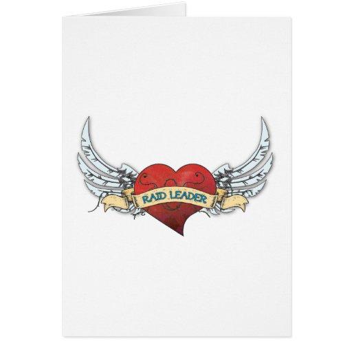 Tatuagem do LÍDER do RAID - coração e asas Cartões