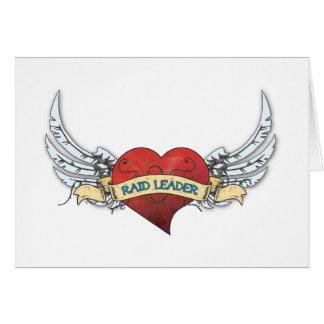 Tatuagem do LÍDER do RAID - coração e asas Cartão Comemorativo