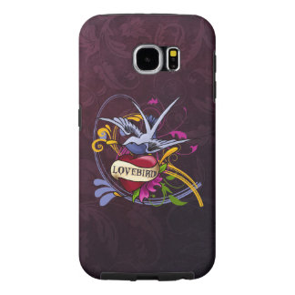 Tatuagem do Lovebird Capas Samsung Galaxy S6