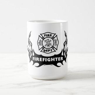 Tatuagem do sapador-bombeiro caneca de café