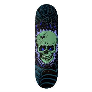 Tatuagem flamejante do crânio shape de skate 18,1cm