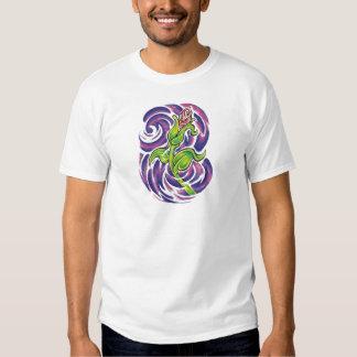 tatuagem floral camisetas