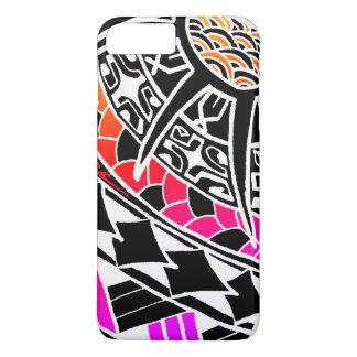 Tatuagem polinésio branco de LineA Capa iPhone 7 Plus