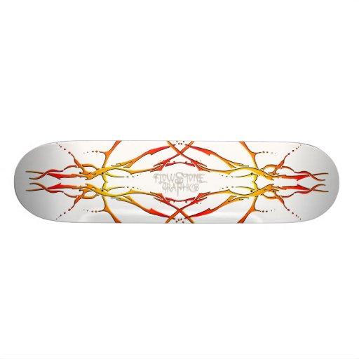 Tatuagem tribal do crânio dos cervos - chama skates personalizados