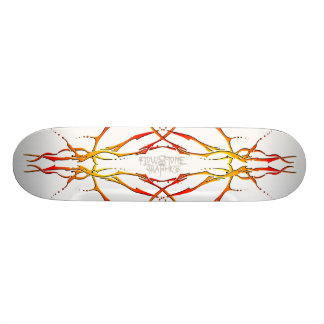 Tatuagem tribal do crânio dos cervos - chama skate