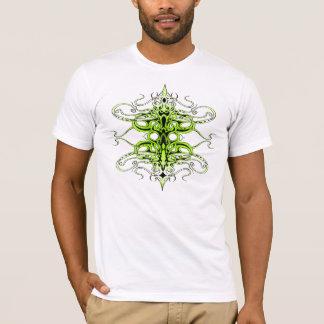 Tatuagem tribal do império - verde e branco camiseta
