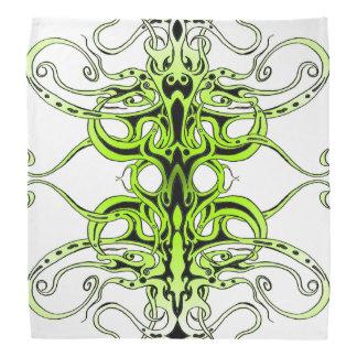 Tatuagem tribal do império - verde no preto pano para cabeça