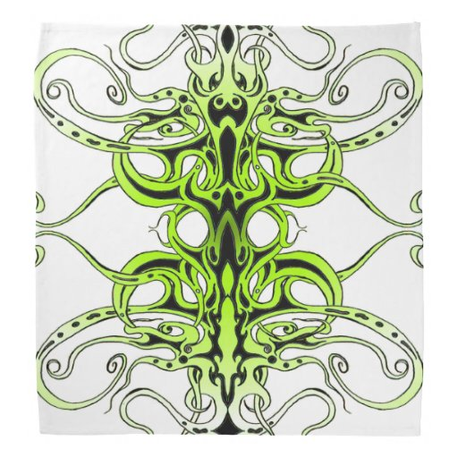 Tatuagem tribal do império - verde no preto