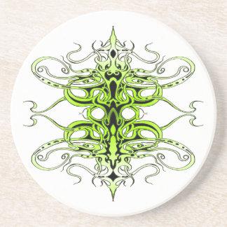 Tatuagem tribal do império - verde porta copos de arenito