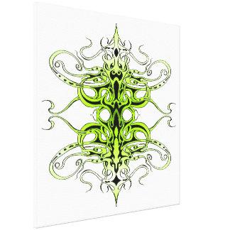 Tatuagem tribal do império - verde impressão de canvas esticada