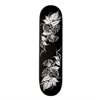 tatuagem tribal floral da videira skates personalizados