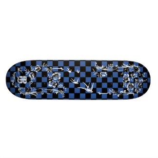 Tatuagem velho Checkboard - azul & preto Shape De Skate 18,1cm