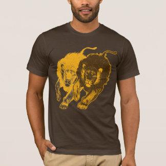 Tau dobro do t-shirt dos leões (ouro) camiseta